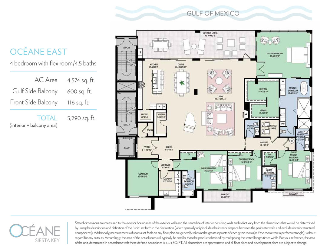 Siesta Key Condo for Sale Floorplan-East
