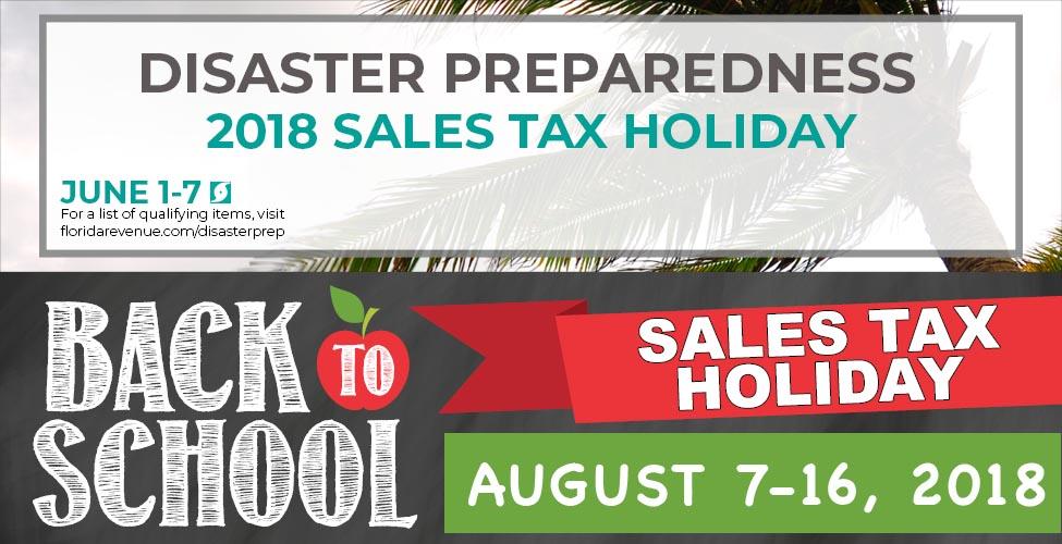 Florida Sales Tax Holidays 2018