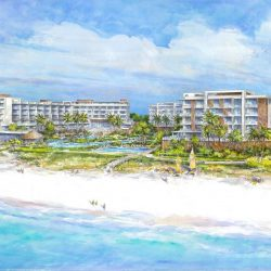 Rendering of the Residences at Longboat Key Former Colony Beach and Tennis Resort