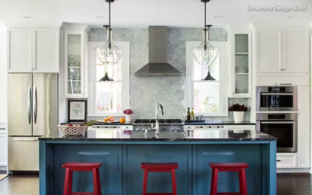 Red, White & Blue Kitchens